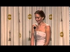 Jennifer Lawrence wins best actress Oscars 2013 [HD]