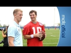 CITY ON TOUR: Eli Manning throws for Hart and Milner at NY Giants practice