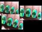 1 design = 3 versions!  St pattys day nails - St patricks art tutorial easy nail art designs