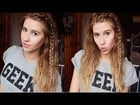 EASY BEACH WAVES HOW TO (using straighteners) WITH BRAID. || Hannah Leigh