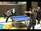 Ping Pong Vegas Style: NFL Quarterback challenges US Air Force Cadet