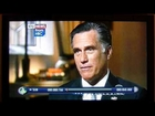 Mitt Romney's face morphs on TV news interview