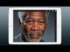 iPad Art - Morgan Freeman Finger Painting