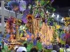 Female  gymnastics on Rio Carnaval  float
