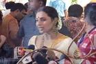 Elegant Rani Mukherjee at Durga Pooja festivities