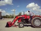 massey fergusson traktöre portatif ön yükleyici kepçe