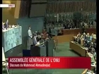 Discours de Mahmoud Ahmadinejad à l'assemblée générale de l'ONU